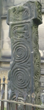 Ancient Saxon cross at Bakewell Parish Church