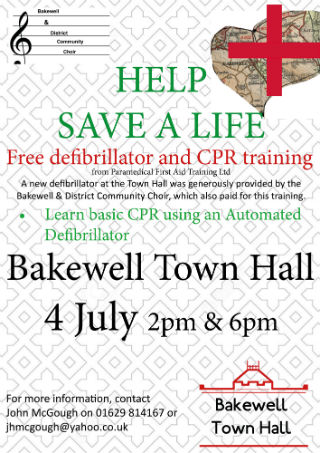 Free CPR and defibrillator training