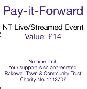 Pay-it-forward NT Live and Streamed events